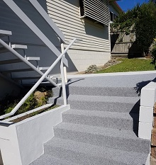 Marine Carpet Installation Completed On Outside Steps