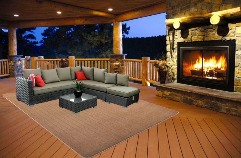 Patio Carpet Plank Chamois