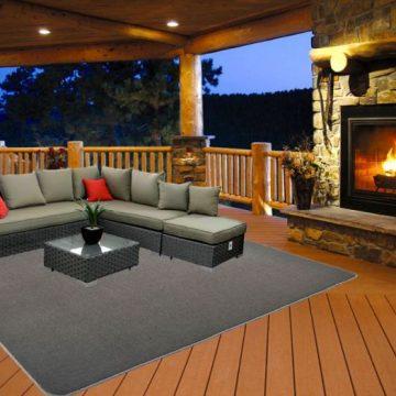 Patio Carpet Plush Platinum