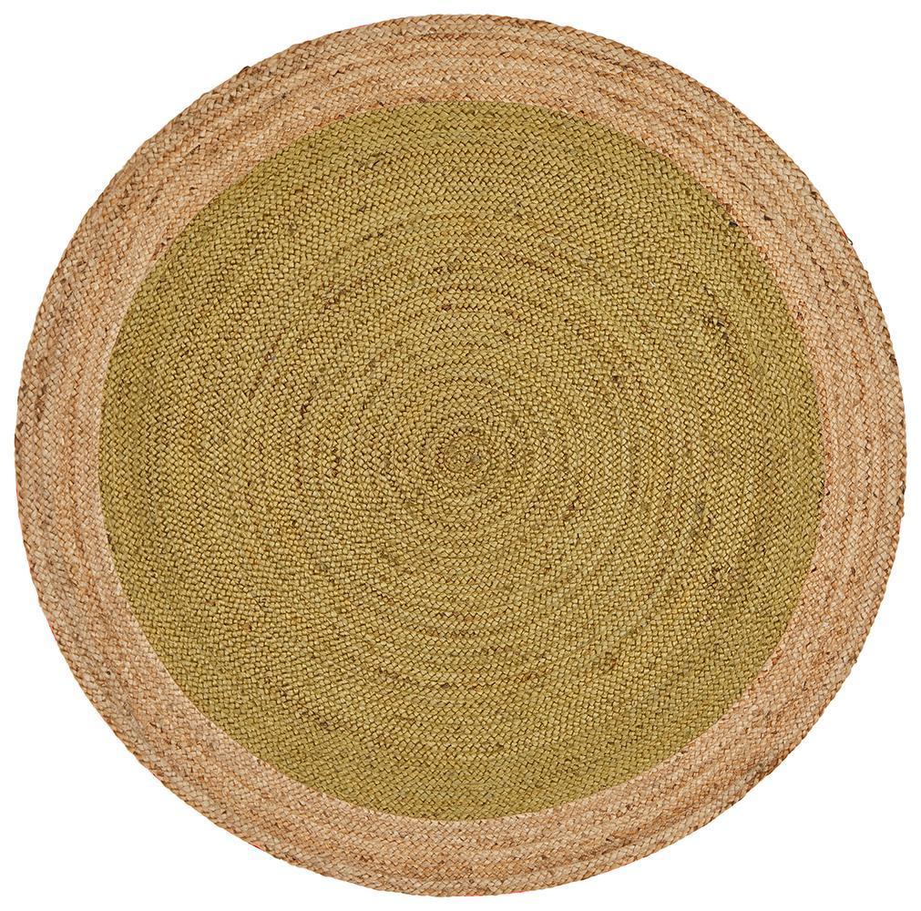 Round Jute Natural Rug