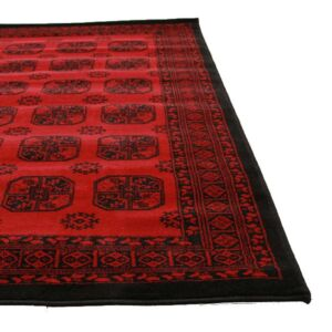 Red Afghan Pattern | Floor Rug