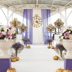 Complimenting any ceremony decorations.