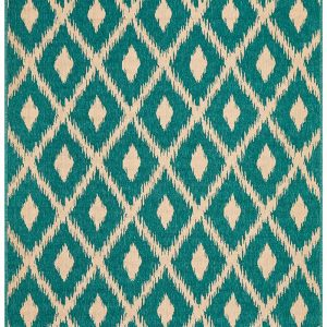 Green Nonporous Outdoor Rug