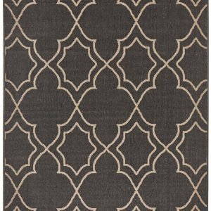 Charcoal Casablanca Outdoor Rug
