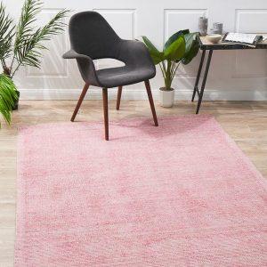Pink Cloud Rose Cotton Rayon Rug