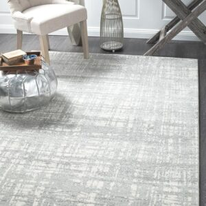 Abstract Rug | Colour Silver Grey | With Various Sizes Rectangle