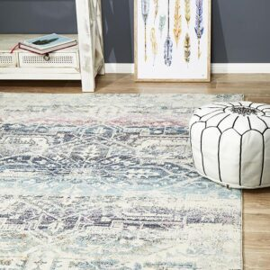 Blue Colour | Furniture Rug Close Corner Rectangle
