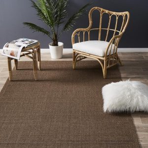 Brown Natural Sisal Rug | Boucle Weave | Colour Brown