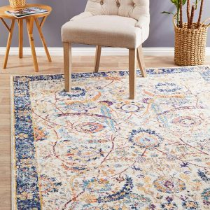 Ivory Peacock Ivory Transitional Rug