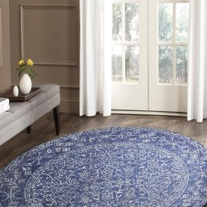 Navy Artist Transitional Rug