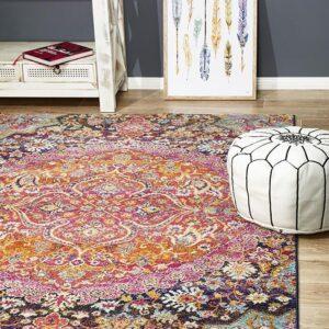 Floor Rug Multi Coloured Rectangle