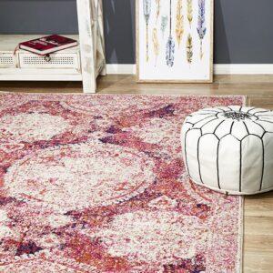 Fuschia Colour Furniture Rug