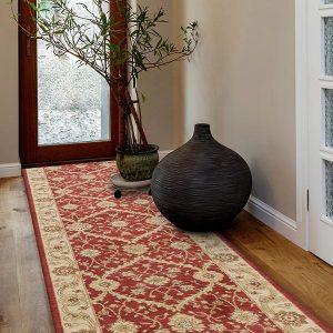Chobi Design Rug - Colour Red/Bone