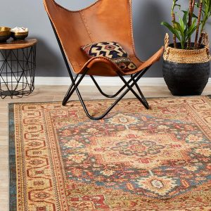 Brown Antique Heriz Design Rug