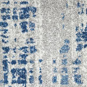Navy Abstract Design Floor Rug