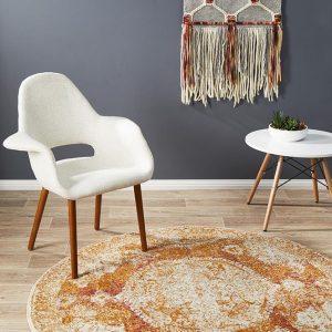 Rust Colour Furniture Rug