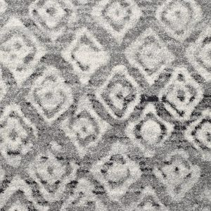 Grey Dark Grey Tribal Flooring Rug