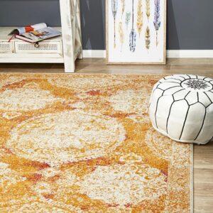 Rust Colour Furniture Rug Rectangle