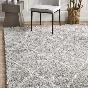 Silver Thick Material Rug