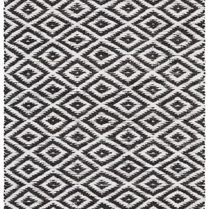 Black ReversableECO-Friendly Rug