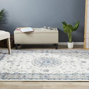 Traditional Rug | Colour White With Beige Border