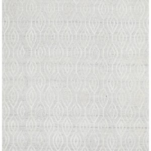 White Hand Loomed Modern Rug