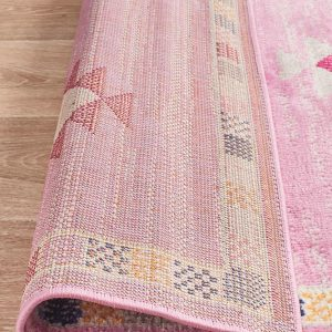 Red Moderate Pink Rug