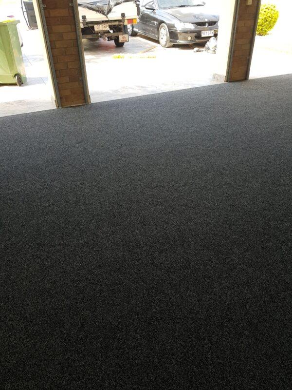 Carpet capers Garge Installation Colour Raven